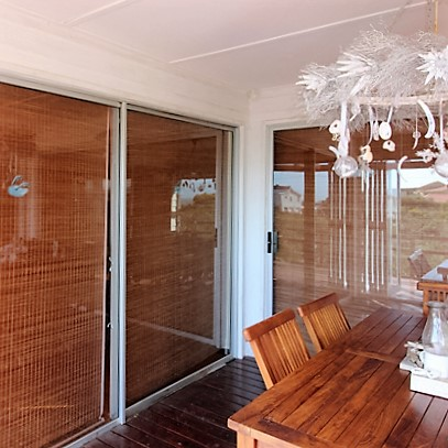 Private areas with blinds lowered